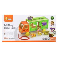 Wooden Tractor Truck with Animals - Building Kit
