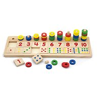 Viga Wooden Count & Match Numbers Set - Children's Maths Learning Toy - Wooden Toy