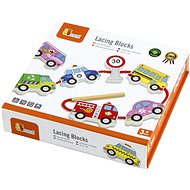 Wooden Lacing Blocks - Transport - Wooden Toy