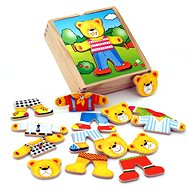Wooden Dressing Up - Teddy Bear - Wooden Toy