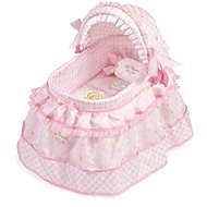 DeCuevas Maria Toys Cot for Dolls with Pillow and Embroidered Lace - Doll Accessory