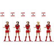 Carrera 21123 Figures - Set of 5 Grid Ladies Realistic Scenery Accessory for Slot Car Race Track, Re - Slot Cart Track Accessory