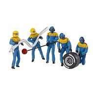 Carrera 21132 Figures - Mechanics Realistic Scenery Accessory for Slot Car Race Track Sets, Blue - Slot Cart Track Accessory