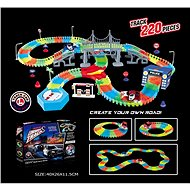 Illuminated in the Dark Track with 220 Parts + Toy Car with LED - Slot Car Track