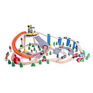 Woody Train with Slide and Crane - Train Set