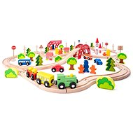 Woody Train with Bridge and Stop - Train Set