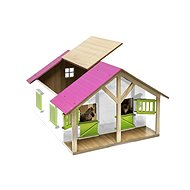 Mikro Trading Wooden Horse Stable Model - Pink - Wooden Model