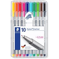 Staedtler Liner Triplus 334 Box of 10 Colours - Felt Tip Pens