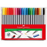 Faber-Castell Grip Finepen 0.4mm, 20 colours - Felt Tip Pens
