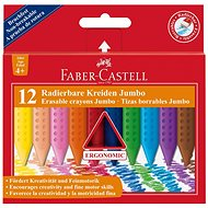 Faber-Castell Pencils Plastic Colour Grip Jumbo, 12 Colours - Coloured Pencils