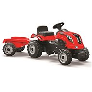 Smoby Farmer XL pedal tractor with siding - red - Pedal Tractor