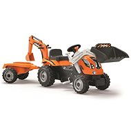 Smoby Builder Max pedal tractor with siding - orange - Pedal Tractor