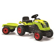 Pedestrian tractor Smoby Claas with siding - yellow-green - Pedal Tractor