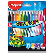 Mapped Color Peps Jungle, 12 colours - Felt Tip Pens