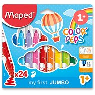 Maped Color Peps Jumbo, 24 colours - Felt Tip Pens