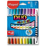 Maped Color Peps Duo, 20 colours - Felt Tip Pens
