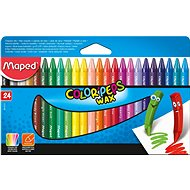 Maped Color Peps Wax, 24 colours - Coloured Pencils