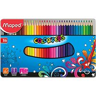 Maped Color Peps Metal Box, 36 colours - Coloured Pencils