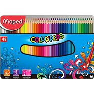 Maped Color Peps Metal Box, 48 colours - Coloured Pencils