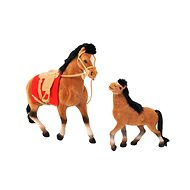 Horse 19cm and 13cm with accessories - Toy animal