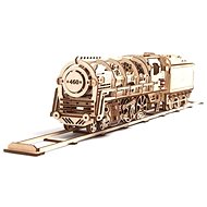 UGEARS 3D Mechanical steam locomotive with tender