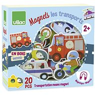 Vilac Wooden magnets Transport 20pcs - Game set