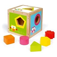Scratch Shape Sorting Cube Owl - Wooden Toy