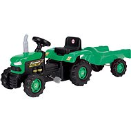 DOLU Pedal tractor with a siding, green - Pedal Tractor