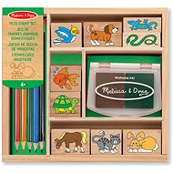 Wooden Stamps in a Box Animals - Stamps