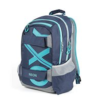 OXY Sport Blue Line Turquoise - School Backpack