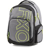 OXY Style GREY LINE Green - School Backpack