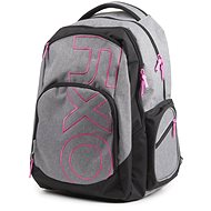 OXY Style GREY LINE Pink - School Backpack