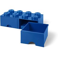 LEGO 8-Stud Storage Brick with Drawers - Blue - Storage Box