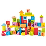 Woody Blocks with letters and numbers - Wooden Blocks