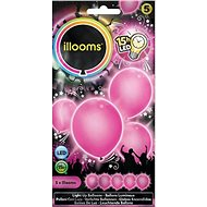 LED balloons - pink 4 pcs