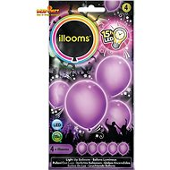 LED balloons - purple 4 pcs