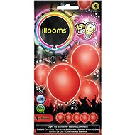 LED balloons - red 4 pcs
