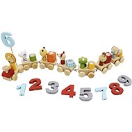Wooden Train with Animals and Numbers - Wooden Toy