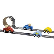Road with wooden toy cars - Wooden Toy