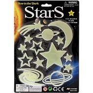 Stars glowing in the dark 3 types on a card - Sticker