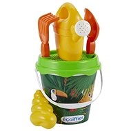Ecoiffier Jungle Bucket with Teapot and Accessories, 17cm