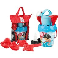 Androni Set of Sand Pirates in a Travel Bag - Blue - Sand Tool Kit