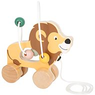 Small Foot Pull lion with labyrinth Safari - Wooden Toy