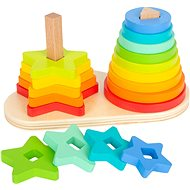 Small Foot Folding Rainbow Duo Tower - Wooden Toy