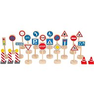 Small Foot Road Signs Set of 25 Parts - Wooden Toy