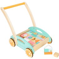 Small Foot Trolley with Dice - Wooden Toy