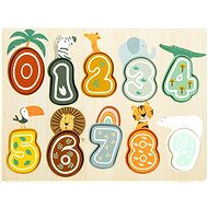 Small Foot Inserting Safari Numbers Puzzle - Puzzle