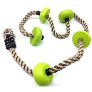 Children Baby Climbing Rope with Green Discs - Playset Accessories
