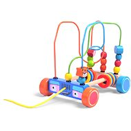 Wooden car with a beaded maze - Wooden Toy