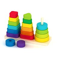 Wooden Pyramid with Different Tare - Wooden Toy